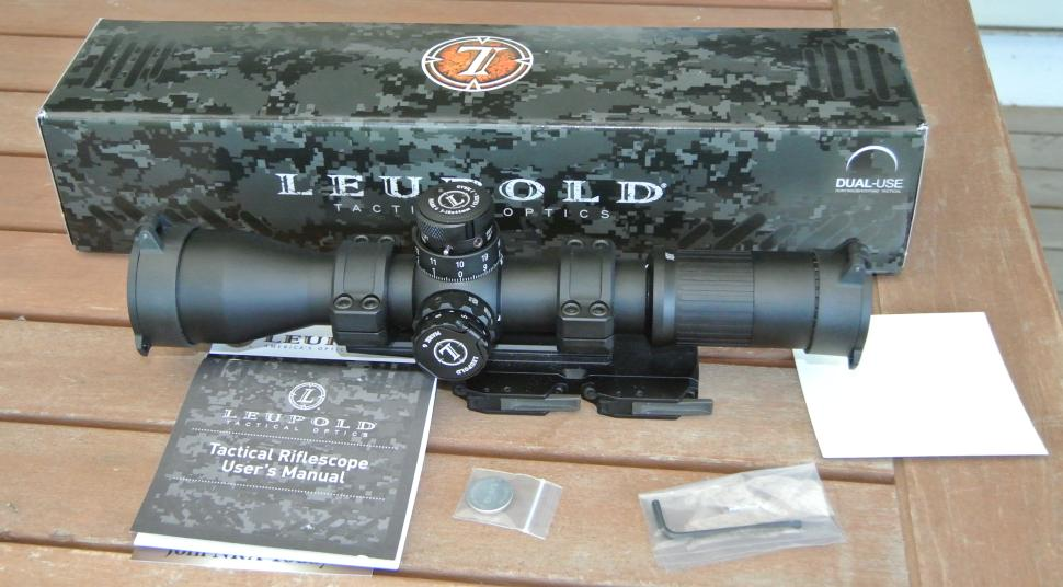 Leupold Mark 6 3-18x with box and accessories (Bobro Dual Lever 34mm mount pictured is not included)