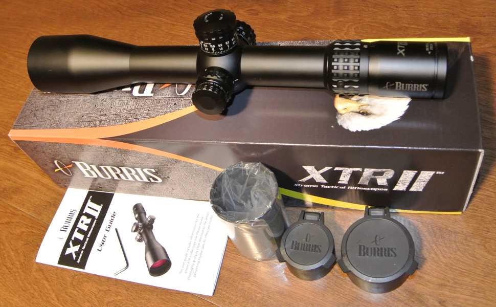 Burris XTR II 4-20x50mm unboxing