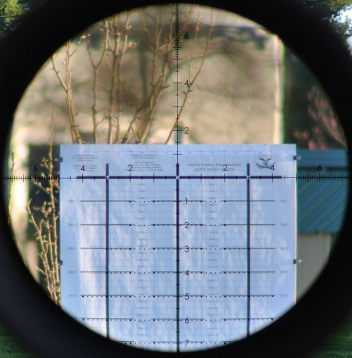 Horus CATS 280F target inverted and viewed though the Razor HD II 4.5-27x56mm with EBR-2C MRAD reticle